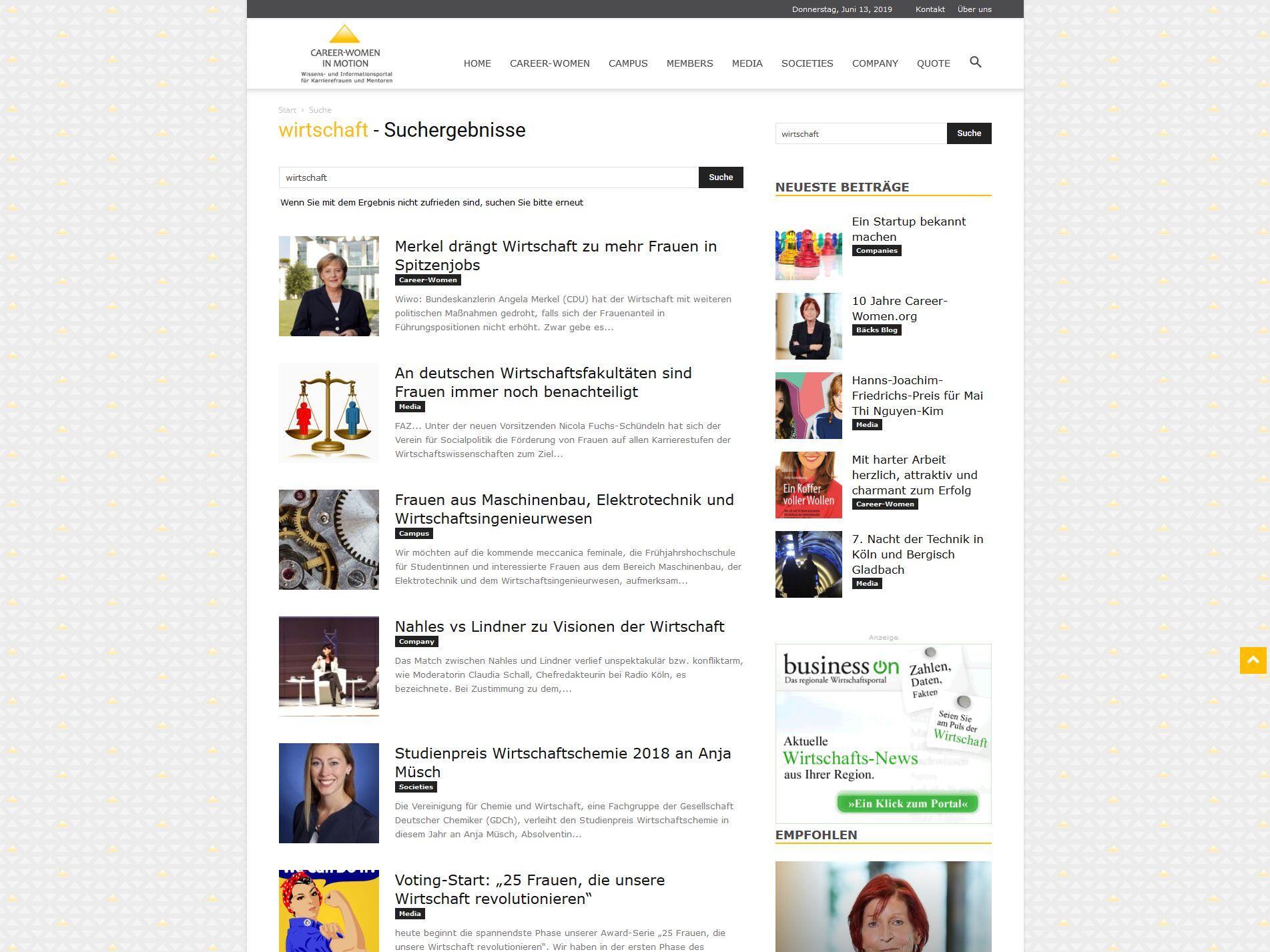 Referenz career-women.org