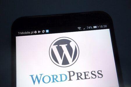 WordPress Logo on smartwphone