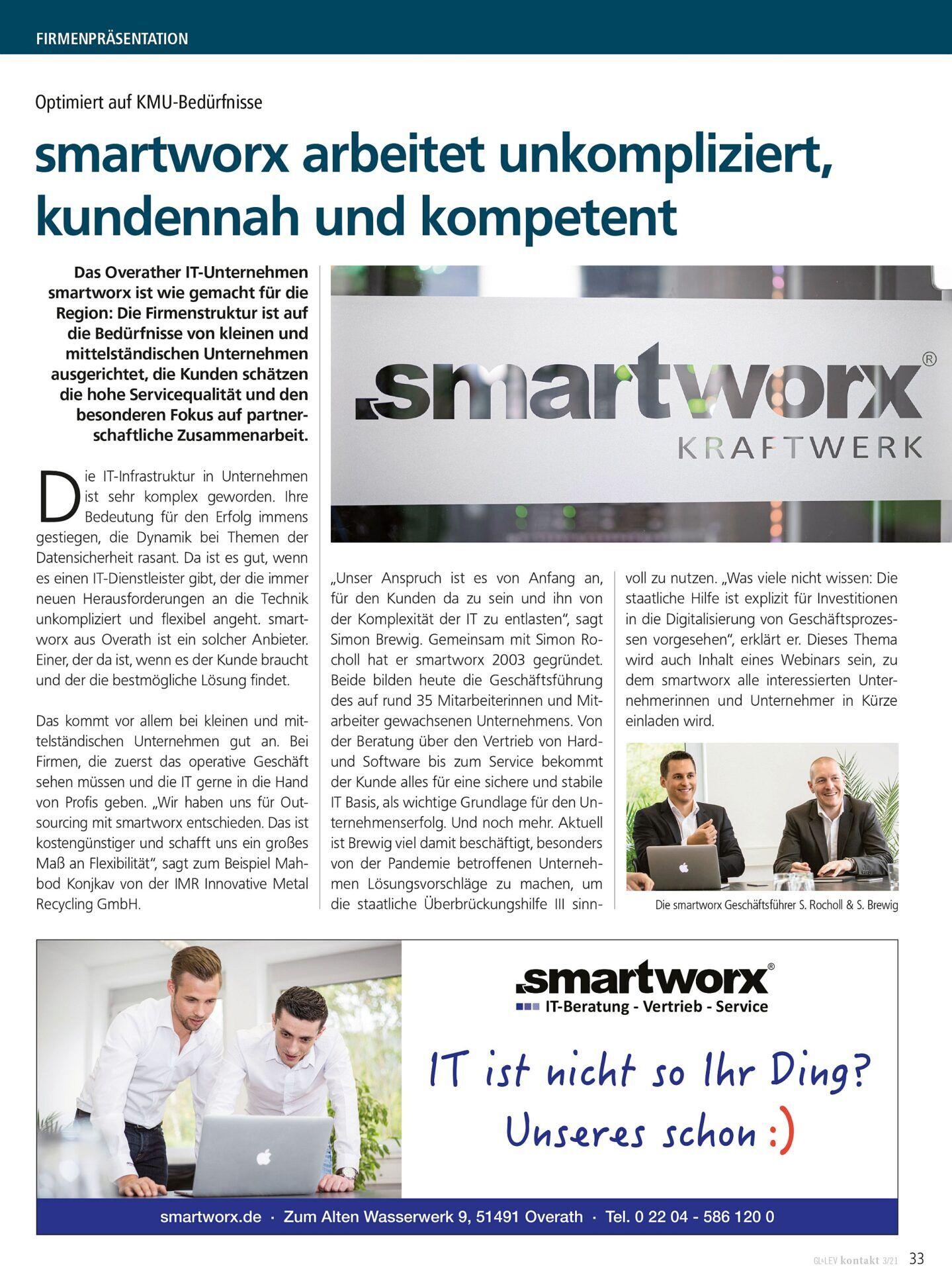smartworx in der GL-LEV Kontakt