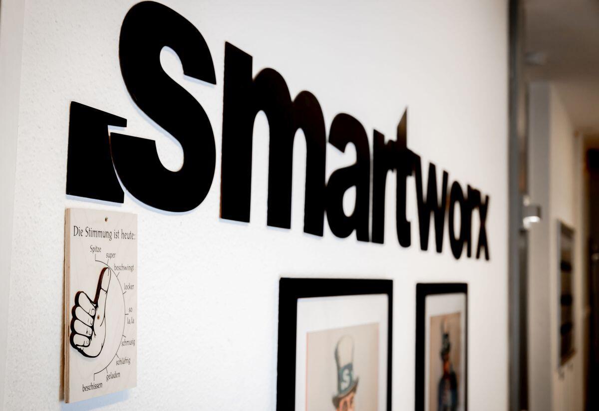 Der smartworx Schriftzug